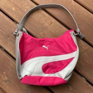 Grey and hot pink Puma bag
